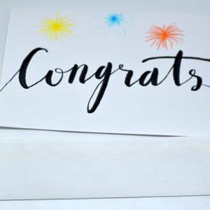 Thank You Card Congrats